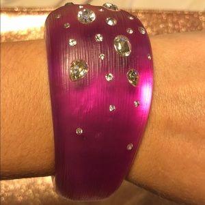Alexis bittar hinged bracelet magenta jeweled